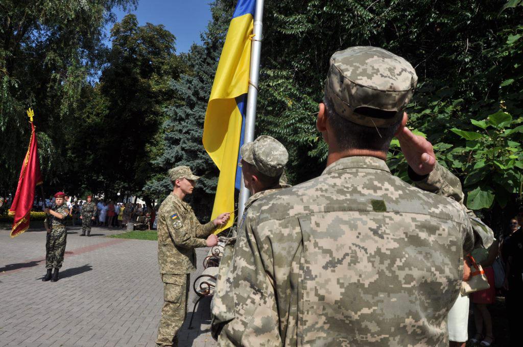 Церемонія підняття Державного Прапора у Полтаві