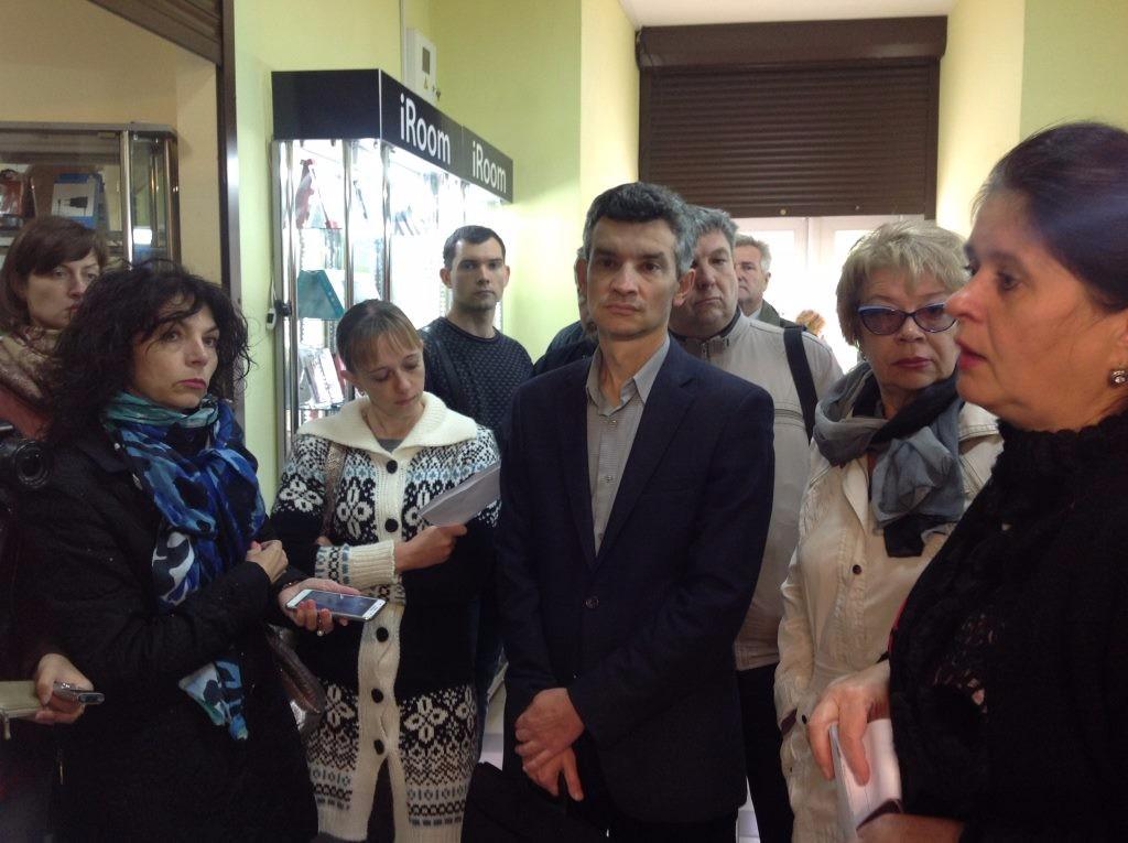 В центрі — Олександр Панков, начальник управління та містобудування Полтавської ОДА