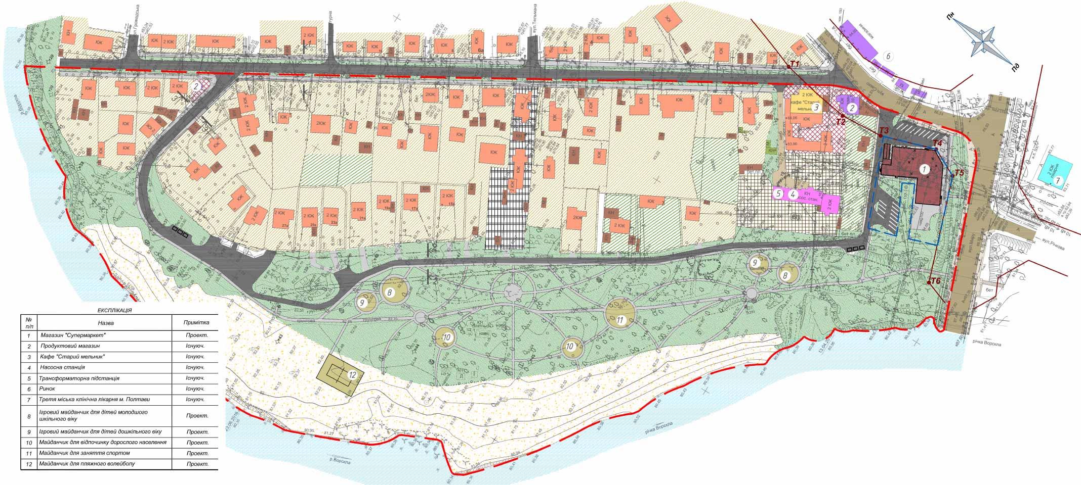 Проект детального плану територій пляжів №1 та №2