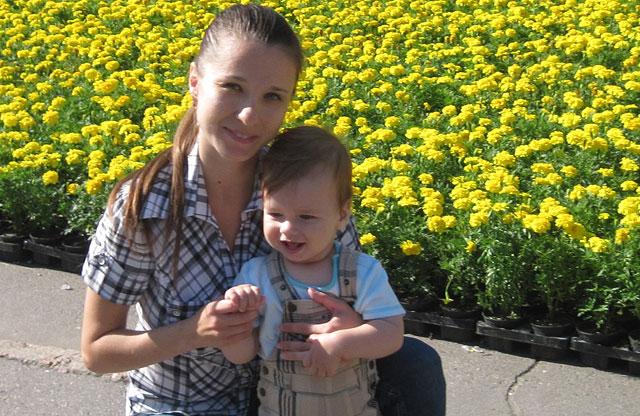 Макар с мамой Оксаной