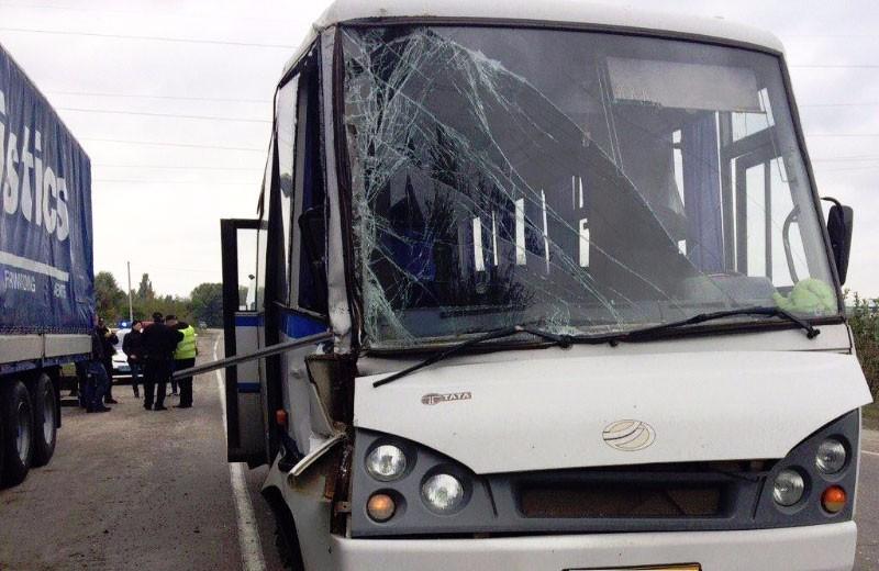 ДТП вКременчуге: автобус столкнулся сфурой. Есть пострадавшие