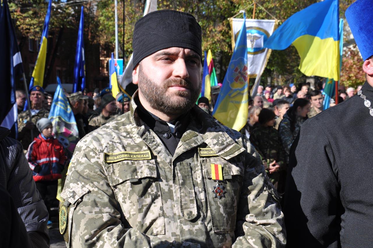 Військовий капелан Максим Кролевський.
