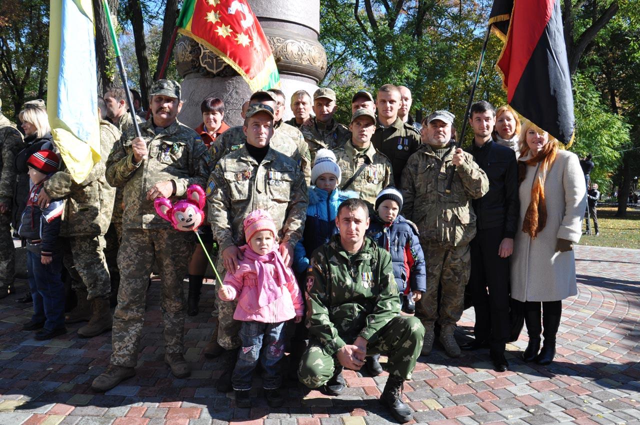 Військові з Хорольського району.
