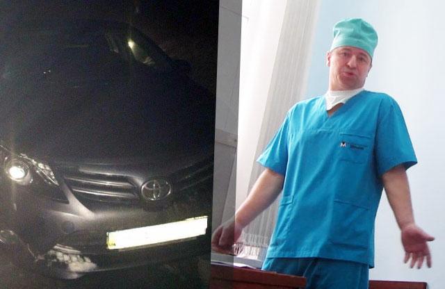 Toyota Avensis лікаря Миколи Кислого після ДТП