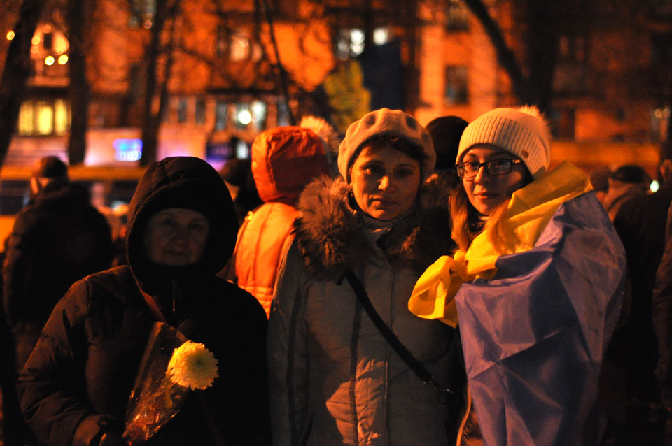 Учасники акції зібралися на площі перед ОДА.
