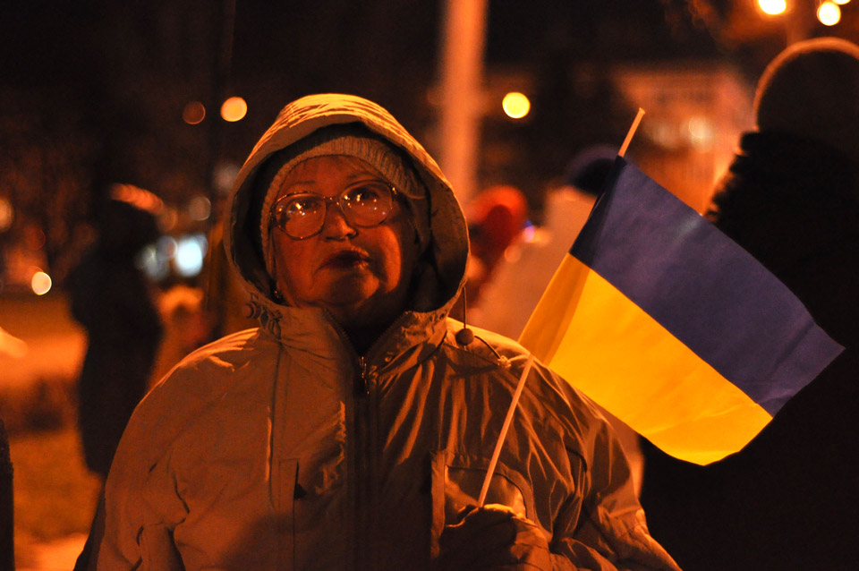 Як і раніше, тут замайоріли українські прапори.