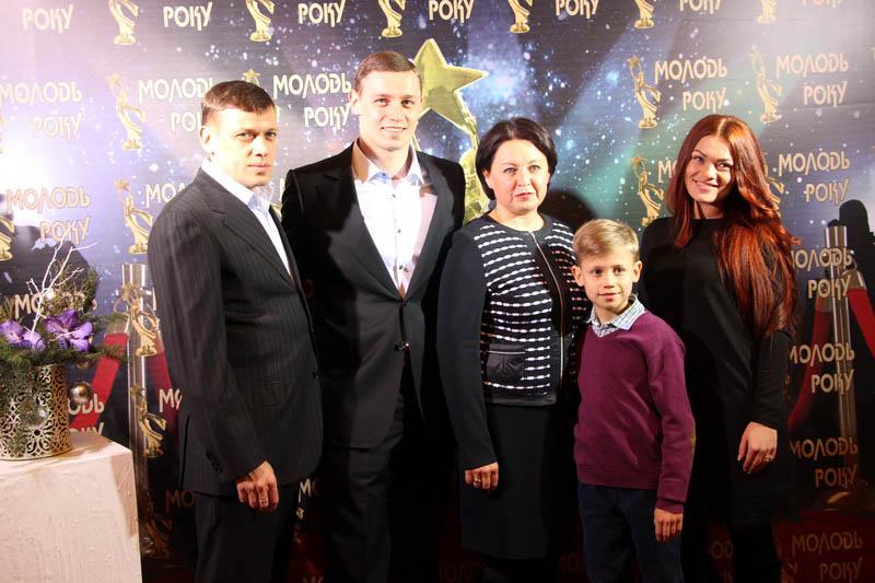 Переможець номінації «Спортсмен року» Любомир Лемешко з родиною