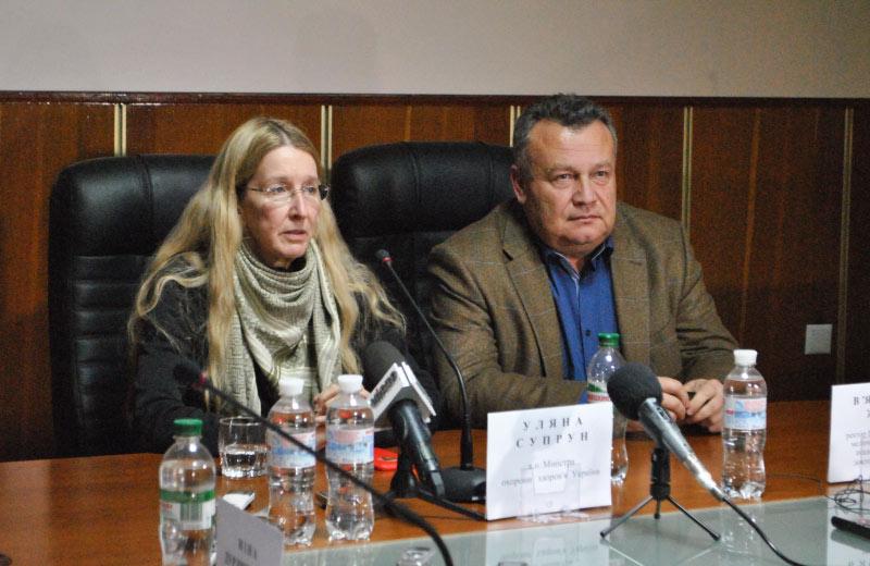 Уляна Супрун та В'ячеслав Ждан