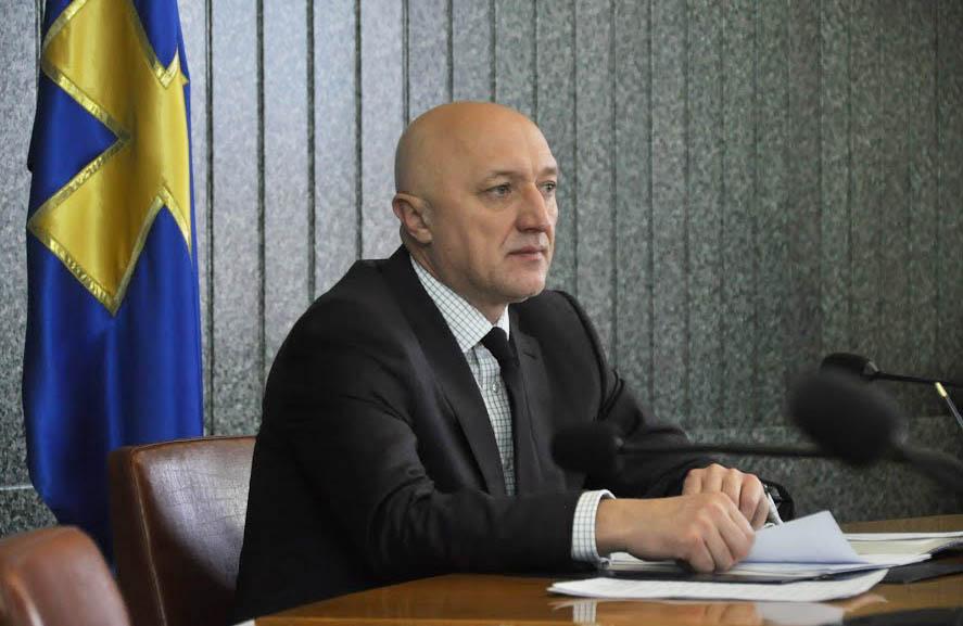 Валерій Головко під час час вчорашньої апаратної наради