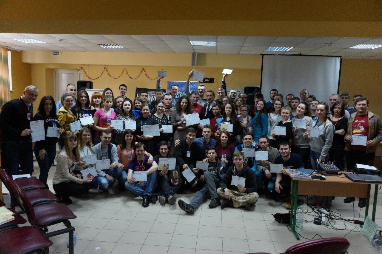 Учасники Зимової Студреспубліки 2016 під час нагородження