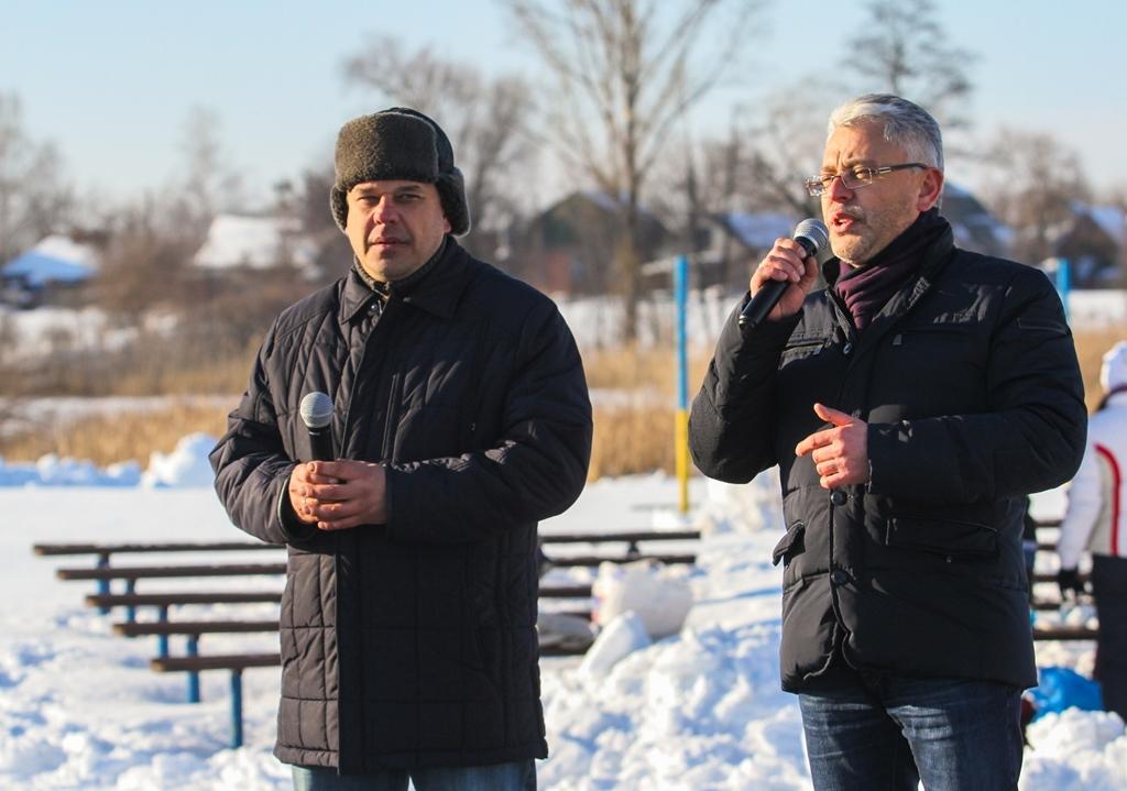 Олександр та Юрій Бублик перед освяченням води