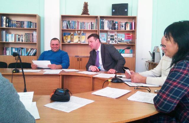 Віталій Павлій та Олександр Шамота на депутатській комісії