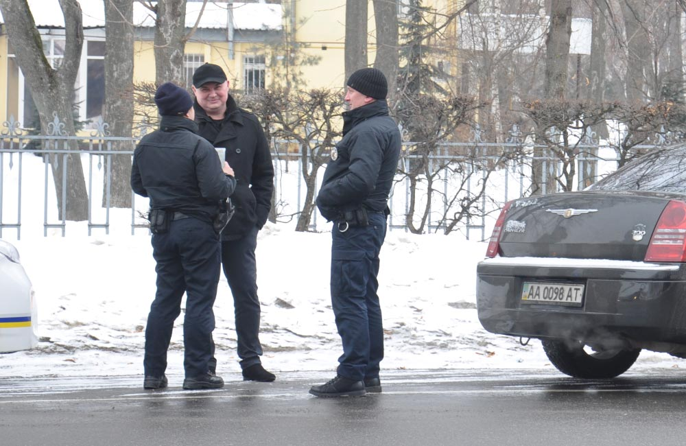 Вячеслав Федоряка та патрульні поліцейські