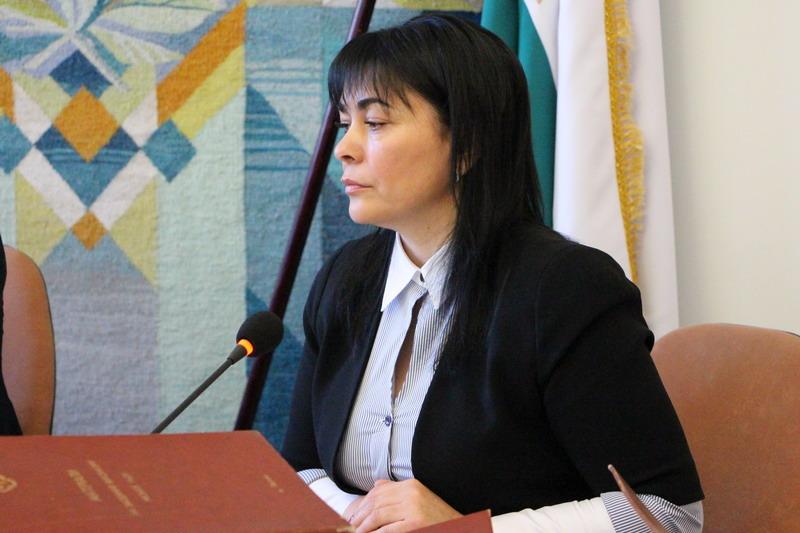 Оксана Деркач на сесії