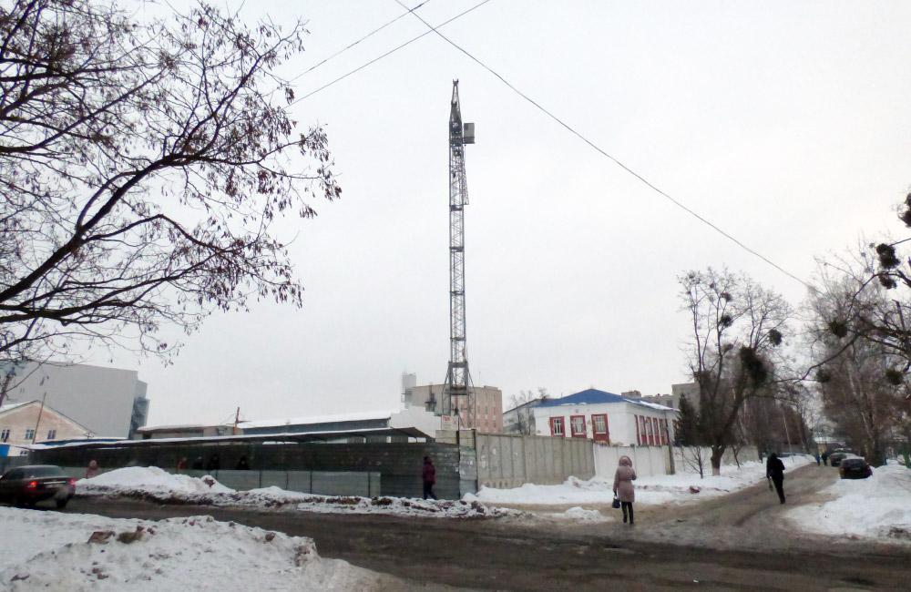 Територія майбутніх будинків на площі Павленківській, 3а та 3б