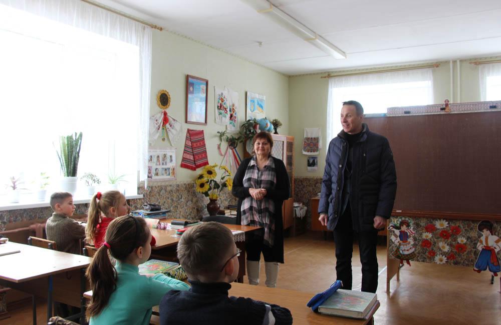 Андрій Матковський на зустрічі з учнями