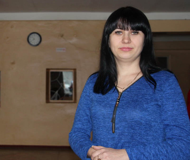 Олександра Скиба, мати першокласниці