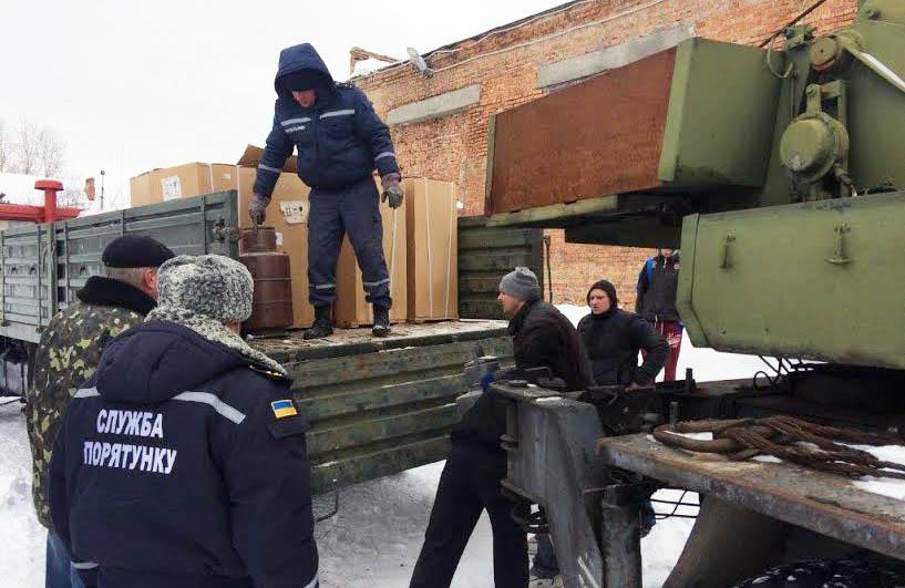 Завантаження гуманітарної допомоги для Авдіївки