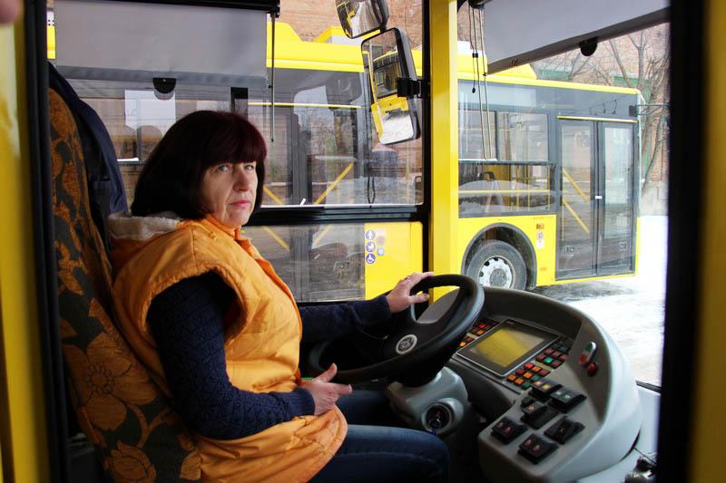 Водій тролейбуса Наталія Бережна