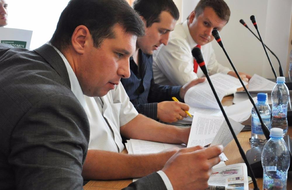 Депутати «СДП» Олександр Шамота, Юрій Синяк та Денис Поліщук