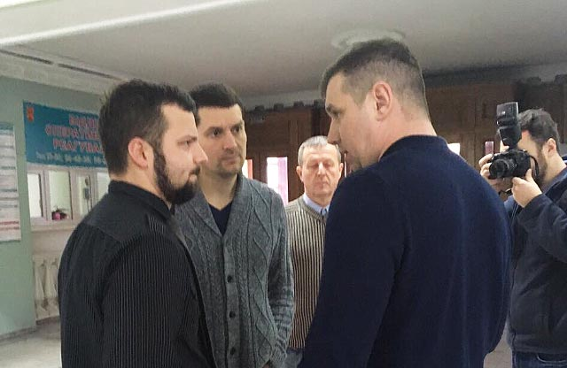 Депутати Юліан Матвійчук, Ігор Окіпнюк, Юрій Бойко та Олександр Шамота