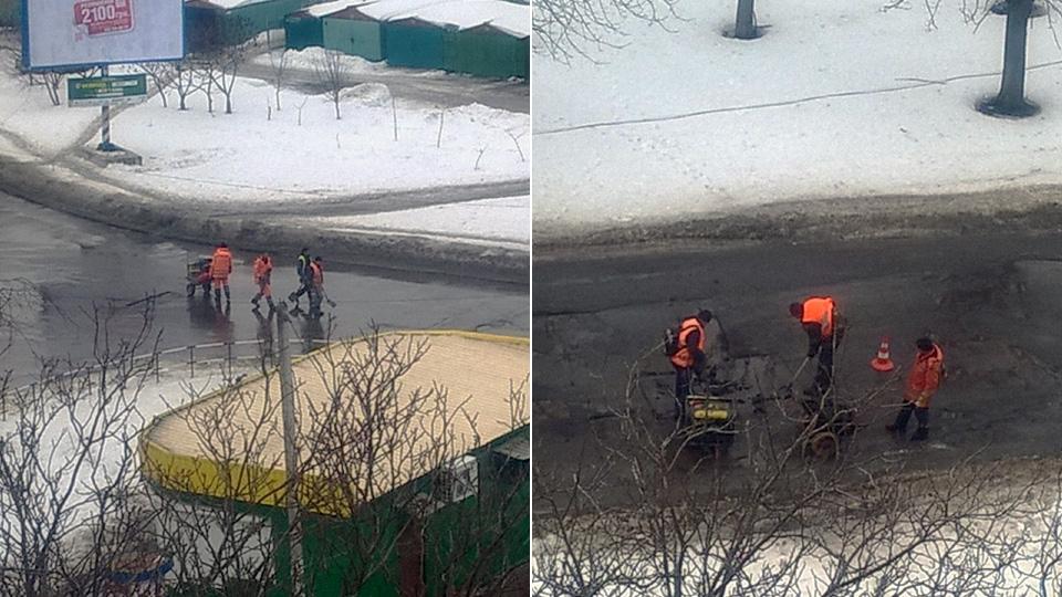 Ремонтні роботи на вулиці Героїв АТО (Сади-2)