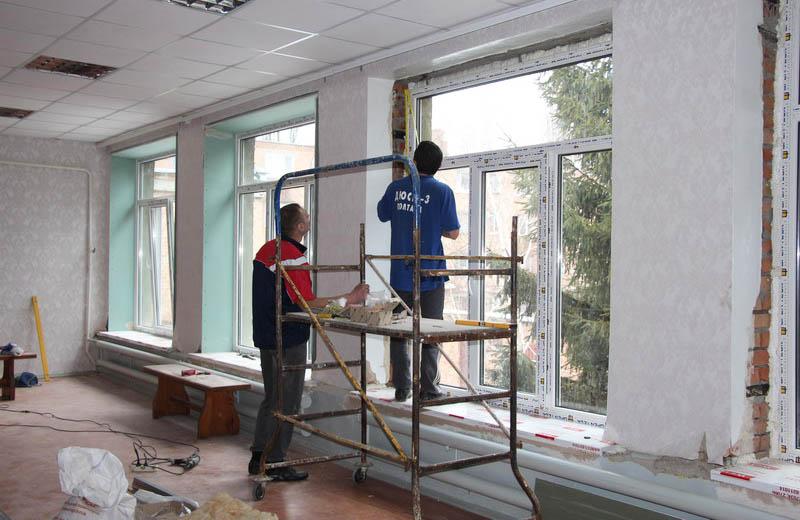 Ремонтні роботи із заміни віконних блоків