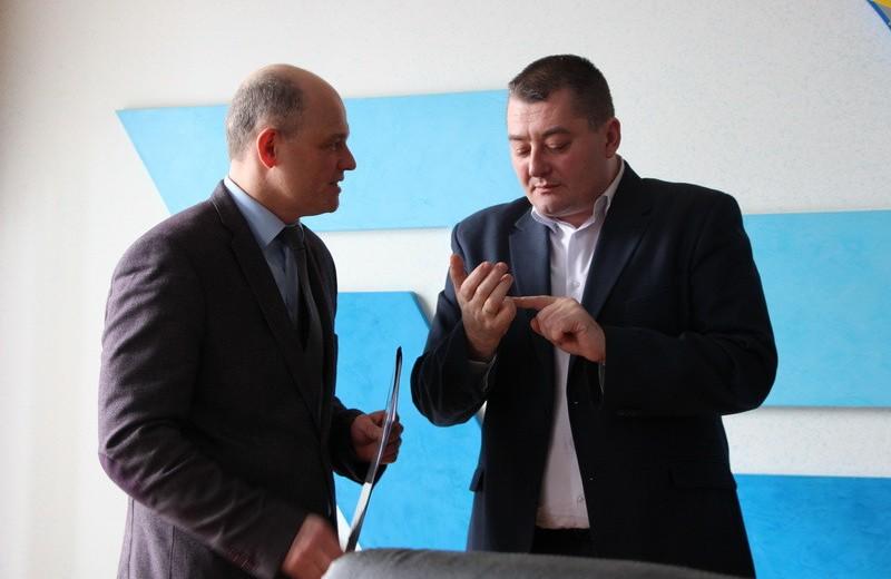 Заступник міського голови Віталій Нікіпелов та начальник Полтавського відділу поліції