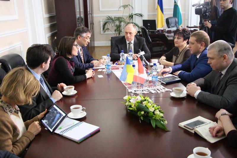 Очільник Полтави Олександр Мамай, гості із закордону та керівники міст-партнерів Проекту ПРОМІС