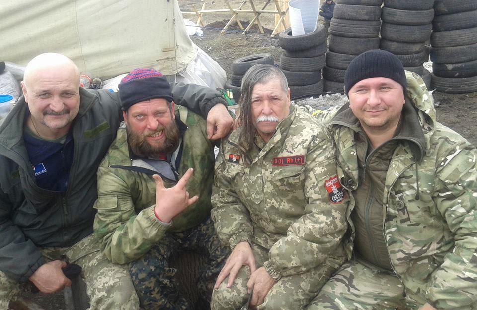 Петро Ворона та Олег Перепелиця у Бахмуті
