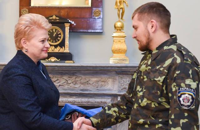 Зустріч Віктора Трофименка з Далею Грибаускайте, описана в репортажі