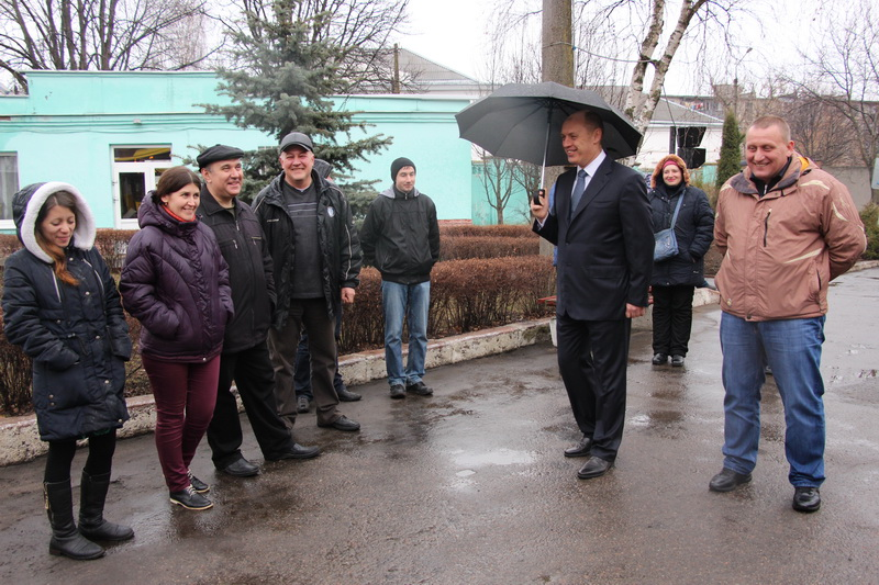 Міський голова спілкується з працівниками КП «Полтаваелектроавтотранс»