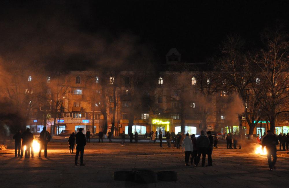 Фото з акції на підтримку «блокадників» 14 березня