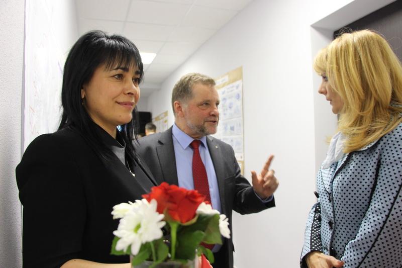 Секретар міської ради Оксана Деркач на відкритті офісу