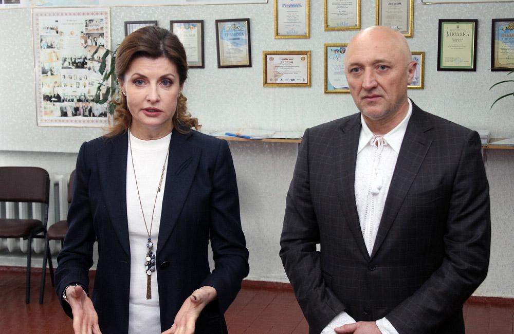 Марина Порошенко та Валерій Головко