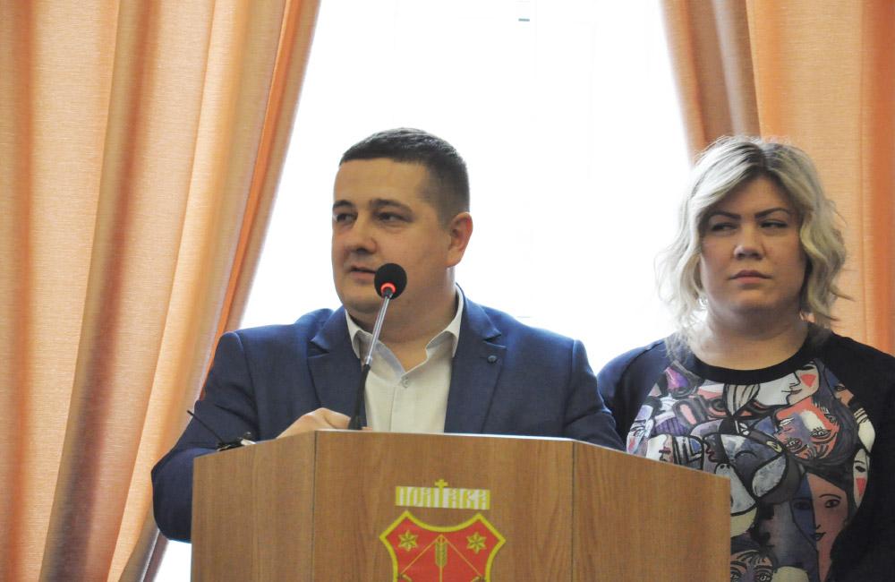 Заступники міського голови Андрій Лямін та Наталія Сук