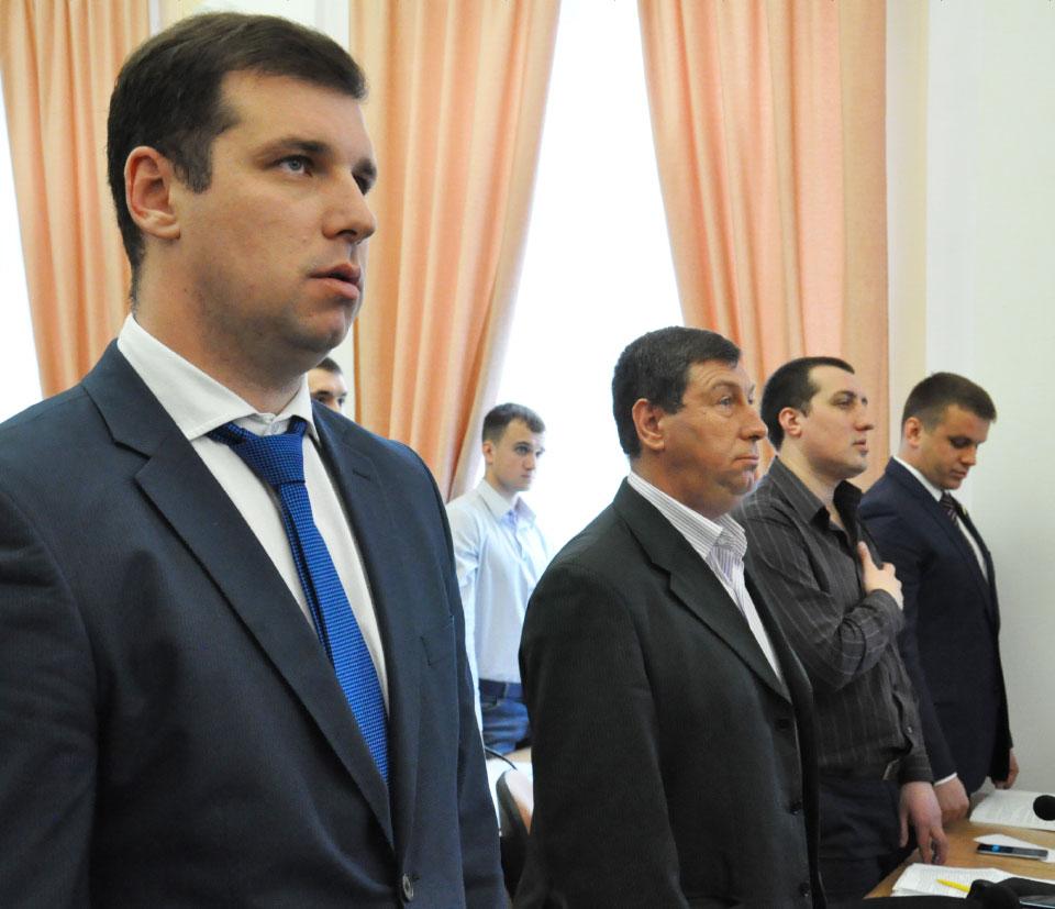 Депутати «СДП»: Олександр Шамота, Ярослав Мартинюк, Сергій Луценко, Юрій Синяк та Денис Поліщук