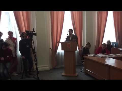 Виступ Ігоря Окіпнюка на сесії міськради (2017.03.24, Полтава)