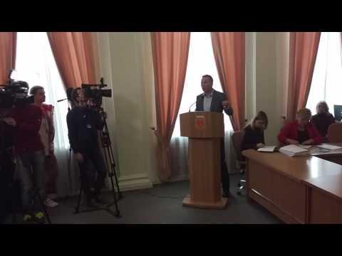 Виступ Андрія Матковського на сесії міськради (2017.03.24, Полтава)