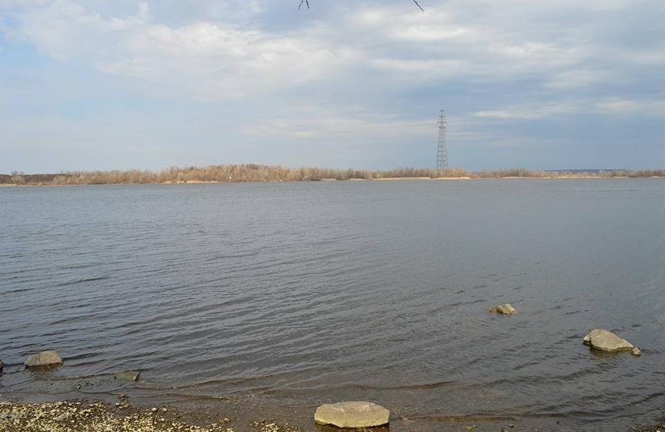 Місце побудови майбутнього мосту через Дніпро