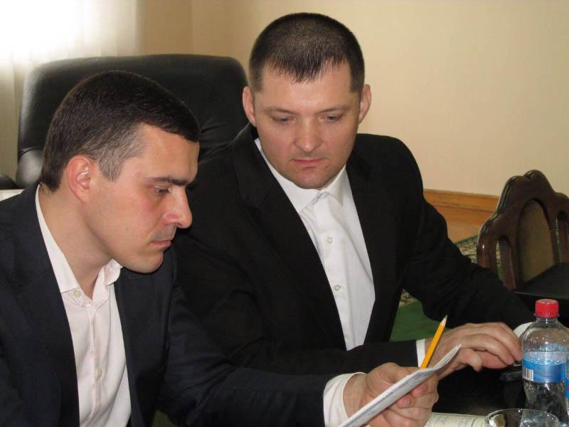 Олександр Колесников та голова Сорочинської ОТГ Павло Полєков