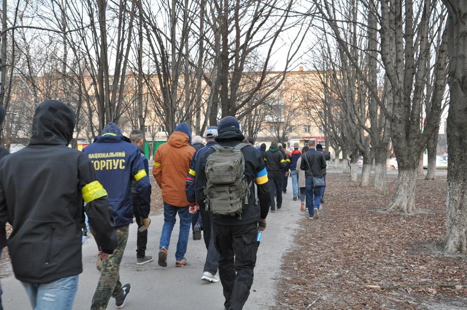 Активісти прямують до місця будівництва