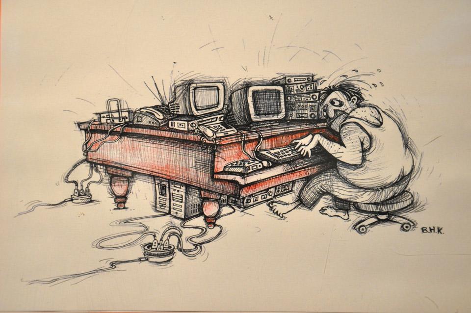 Робота карикатуриста Байрама Гаджізаде.
