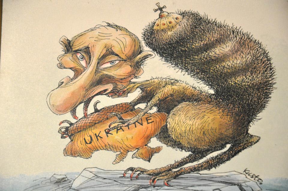 Робота карикатуриста Олексія Кустовського.