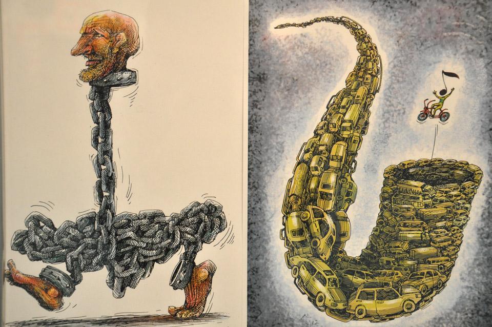Робота карикатуристаОлексія Кустовського.
