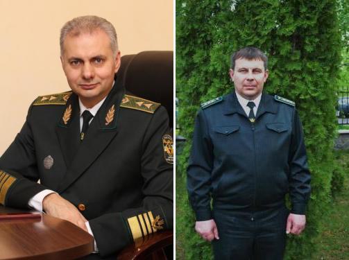 Керівник обласного управління Юрій Тараненко та директор Миргородського лісгоспу Олександр Лабудяк