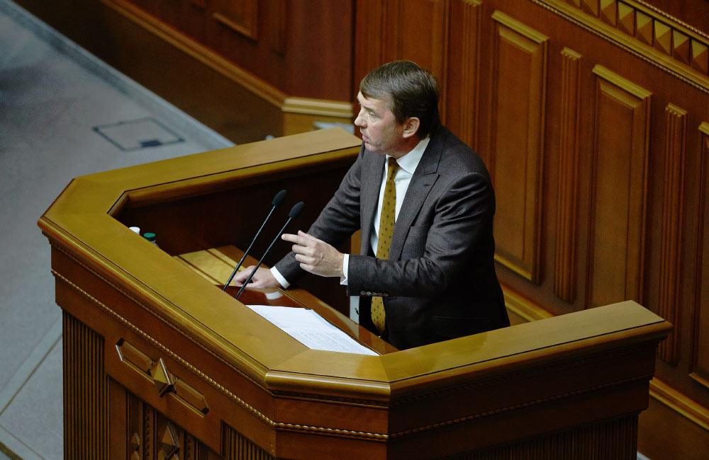 Народний депутат Олег Кулініч у Верховній Раді України