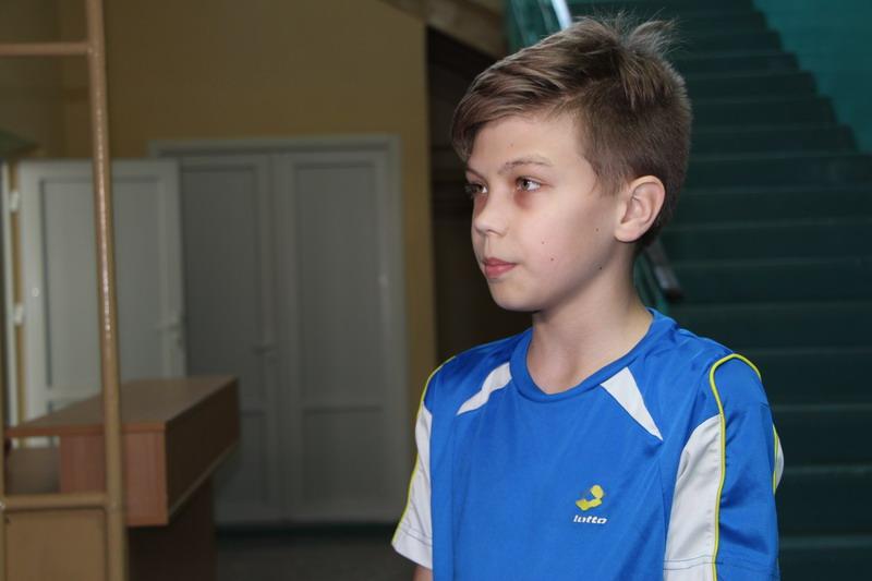 Вихованець ДЮСШ №2 секції з волейболу Олексій Бугаєвський