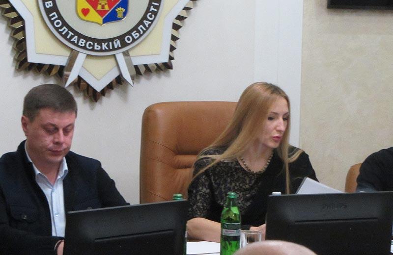 Юрій Тимоха та Ірина Степаненко на засіданні атестаційної комісії поліції області