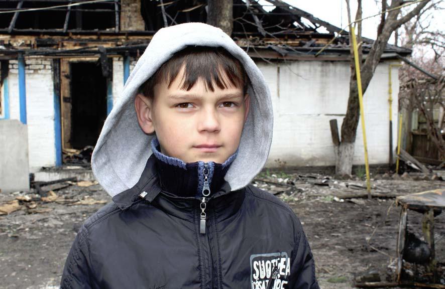 ВПолтавской области парень  героически спас изогня троих младших братьев